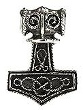 Kiss of Leather 220 - Colgante de martillo de Thor (plata de ley 925)