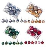 Generic Brands Bola de decoración de árbol de Navidad (Dorado)