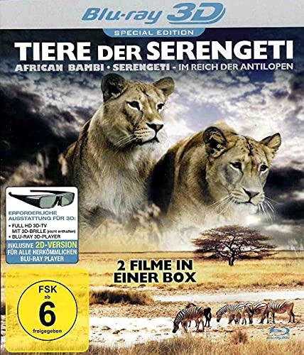 Tiere der Serengeti - 3D Blu-ray - 2 Dokumentationen