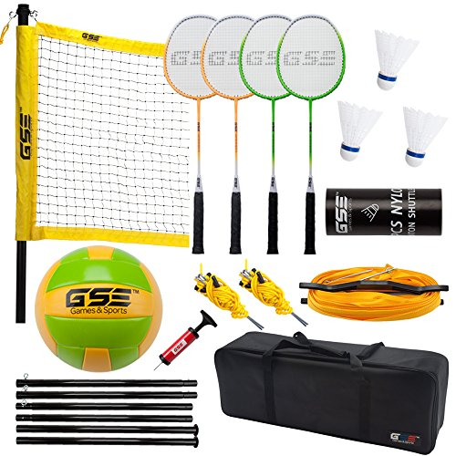 Product Image of the GSE Games & Sports Expert Portable Badminton Volleyball Combo Set. Including...
