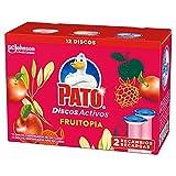 PATO Activos WC Fruitopia, Limpia y Desinfecta, Pack de 2 Recambios, 12 Discos 150 g
