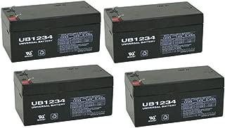 Universal Power Group UPG Sealed Lead-Acid Battery - AGM-Type, 12V, 3.4 Amps, Model# UB1234-4 Pack