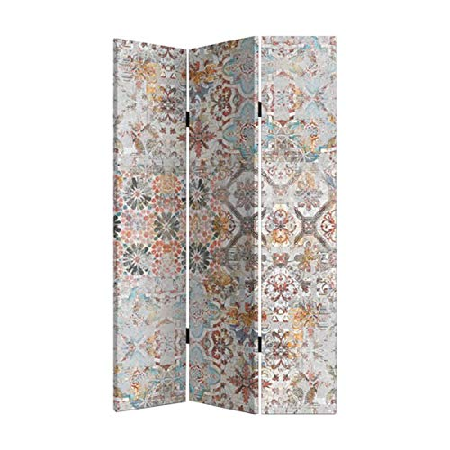 Home Gadgets Biombo 3 Paneles Azulejo Vintage 120x180 cm