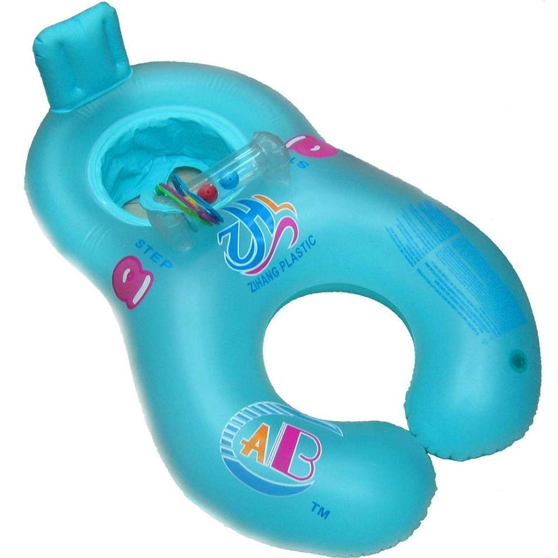 YFFSS 調節可能な日よけの子供の浮遊物が付いている浮遊物の水泳リング、膨脹可能な母子の柔らかい水泳の浮遊いかだの子供の椅子の座席水泳リングプール