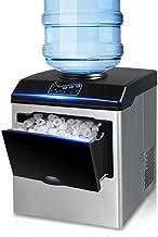 SUM Machine à glaçons + Distributeur d'eau Froide - 25 kg de glaçons en 24 Heures - Machine à glaçons à Poser sur Le Dessu...
