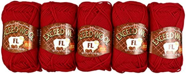 Exceed wool FL Juta Yarn Red System 40 g 120 m 5 pieces set