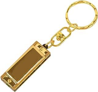 Sanwooden Cute Keychain Harmonica Mini 5 Holes 10 Tones Keychain Harmonica Key Of C Kids Toy Hanging Ornament Girl Fashion Accessories