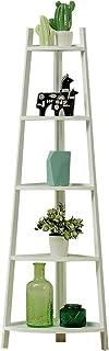 Shelves 5 Tier Corner Ladder Bookcase Shelving Shelf Unit, Corner Shelf, Bookcase Ladder Bookshelf Plant Stand for Home Of...