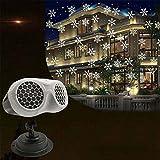 tiemore luci del proiettore di natale allaperto proiettore di fiocchi di neve binoculare rotante luce notturna a led per nevicate con telecomando luci paesaggistiche impermeabili per natale