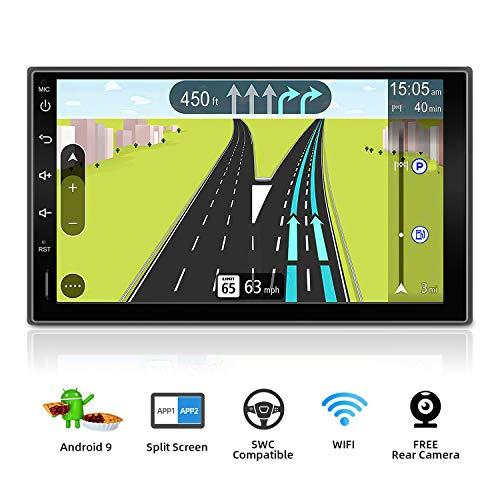 BXLIYER Autoradio Double din Android 9.0 de Navigation de Voiture stéréo avec / 7 Pouce Quad Core Radio multimédia de Voiture/ Soutien 256G SD USB Volant WiFi BT...