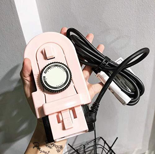 FANGCOOL Mini Plancha eléctrica de Baja Potencia portátil de Viaje portátil Plegable eléctrica Plancha-Rosa