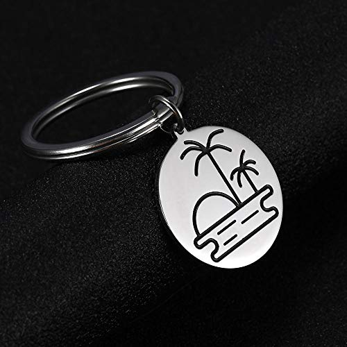 Stainless Steel Pendant Keychain Keyholder Women and Men GiftChristmas pendant