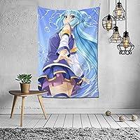 この素晴らしい世界に祝福を!アクア Aqua タペストリー インテリア 多機能壁掛け ファブリック壁掛け おしゃれ 部屋 窓 トップ飾り 個性 家庭飾り 装飾用品 約幅152x102cm