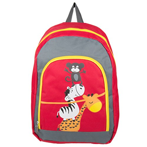 Sumaclife Nylon Hybrid Animals Print Children Backpack Camping Hiking Bag Fits Ematic Portable DVD Players