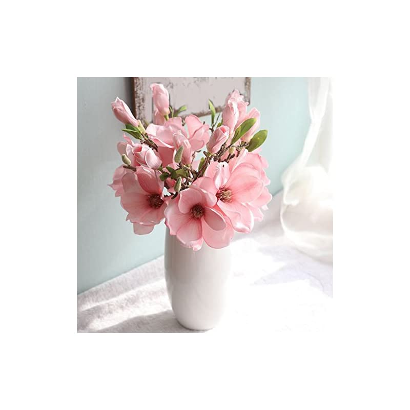 silk flower arrangements 8qzjs1tg 1 pc artificial magnolia fake flower bud bridal wedding home cafe store decor for wedding, stage, bedroom, park, office, dining room, courtyard, store decor
