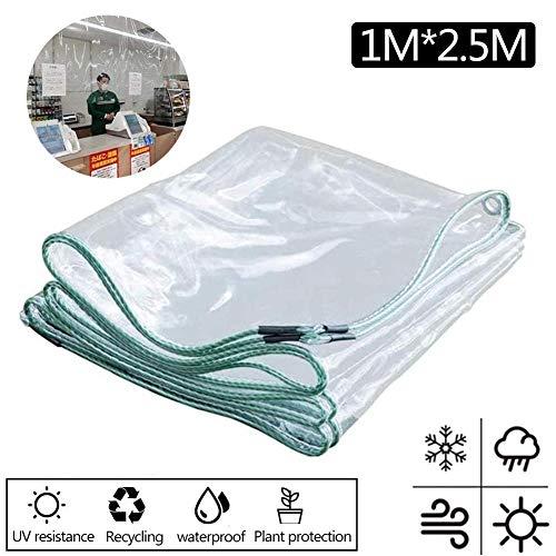 Fanlary Lona Impermeable Transparente, Lona Impermeable De PVC Transparente para Instalaciones Públicas Tiendas De Conveniencia Caja Registradora Jardín Al Aire Libre Cost-Effective