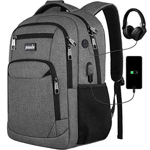 Backpack for Women and Men,School College Backpack Laptop bookbag with USB Port for High School Student