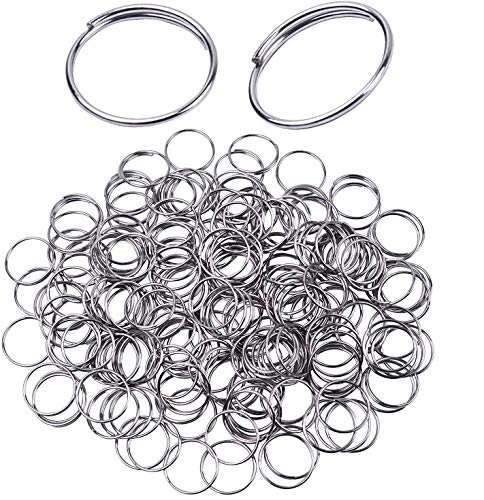 H&D 500pcs Round Edged Split Circular Ring Clips for Crystal Lamps, Crystal Curtain, Crystal Garland, Necklaces, Keys, Earrings, Jewelry Making and Craft Ideas (14mm, Silver)