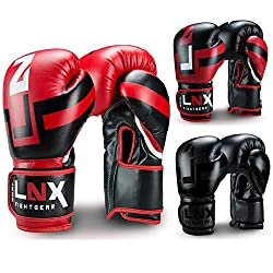 LNX Boxing Gloves Performance Pro red / black 14oz