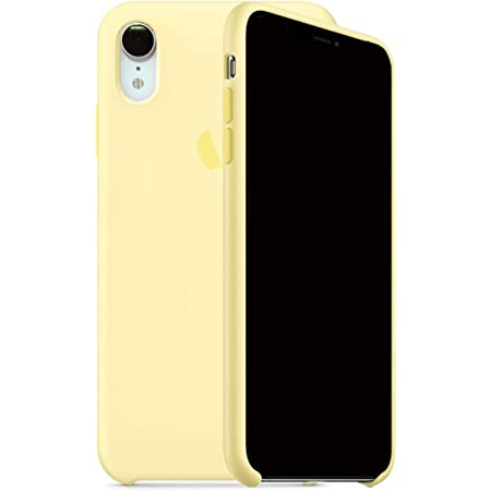 Kongwoo Silicone Case (Rubber Hard Cover) Compatible with iPhone XR (Mellow Yellow)