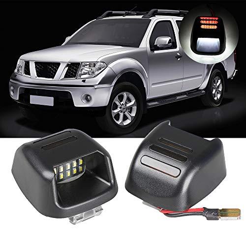 Luces de matrícula LED para N-issan N-avara D40 2004-2018 Luces traseras de coche Accesorios Auto Assembly Blanco 2 piezas