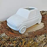 Porta oggetti umidificatore per radiatori, modello FIAT 500 - realizzato in ceramica 100% made in Italy