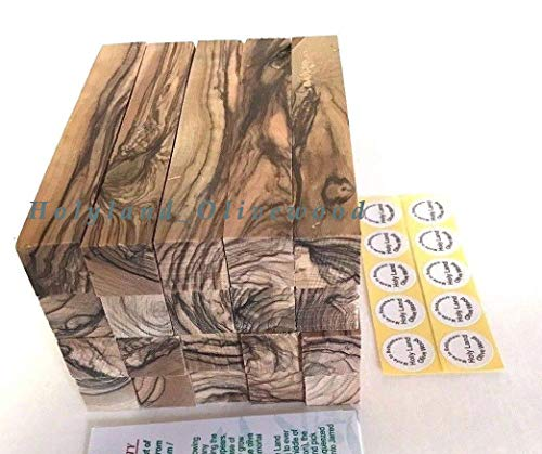 10 ~ Bethlehem Olive Wood Pen Blanks with Certificates Authentic-Premium Quality