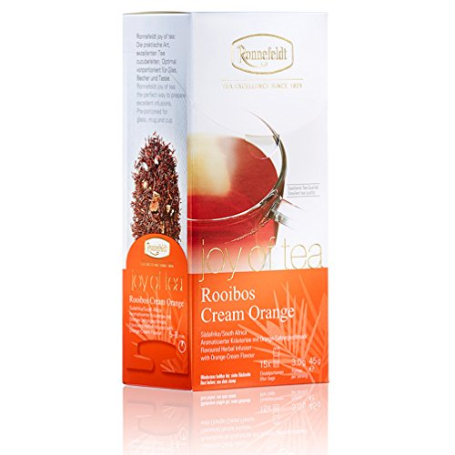 """Ronnefeldt Rooibos Cream Orange \""""joy of tea\"""" - Kräutertee mit Orange-Sahnegeschmack, 15 Teebeutel, 45 g"""