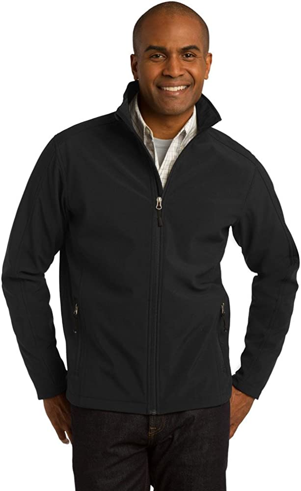 Port Authority Tall Core Soft Shell Jacket, Black, XX-Large Tall