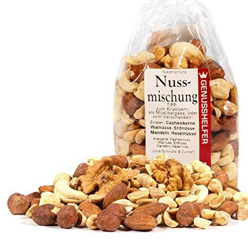 Nuss Mischung 1000 Gramm natur, Cashewkerne, Walnüsse, Erdnüsse, Mandeln, Haselnüsse, ungesalzen,...