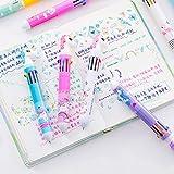2pc 10 Colori in 1 Penne A Sfera Kawaii Multicolor Sfera Penne Penne Svegli per I Bambini Regalo Ufficio Scolastico Rifornimenti della Cancelleria, Colori Casuali
