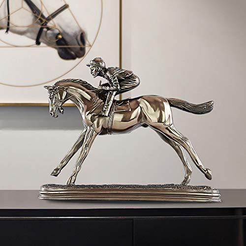 XFSE Decoración para el hogar para interiores de carreras de caballos, sala de estar, sala de vino, decoración de escritorio, dormitorio creativo, personalidad, muebles para el hogar, 32 x 7,5 x 26 cm