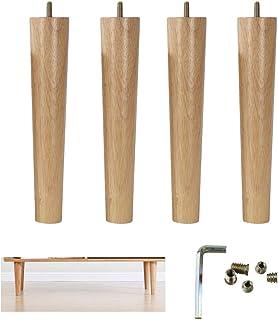 Patas de Muebles de Madera de 4 PiezasPatas de Cama Cilíndricas Pata de Mesa de Café Patas de SofáPatas de MesaPatas ...