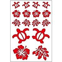 Sticker Shop Haru ハワイアン セット ステッカー 赤