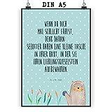 Mr. & Mrs. Panda Wandposter, Wanddeko, Poster DIN A5 Otter
