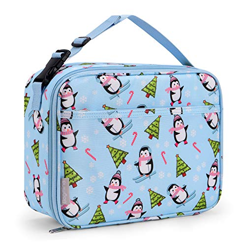 Bagmine Lunch Tasche Kinder Thermotasche Lunchpaket isolierte Wiederverwendbare Kühltasche Isolierbox Picknicktasche zur Aufbewahrung für Schule Picknick Reisen Arbeit Pinguin