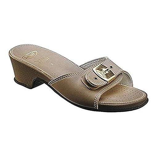 b41c4a313382 Scholl Leather Look Sandal High - Stone (UK 4 EU 37)