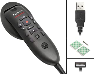 Nuance PowerMic III Microphone for Dragon (Non-Healthcare), 3 Ft Cord, Dictate Documents and Control your PC – all by Voice, [PC Disc]