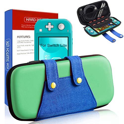 Tasche für Switch Lite, Luigi Switch Lite Mini Aufbewahrungs Tasche/Hülle, Tragbare Reisetasche Schutzhülle für Switch Lite Konsole & Zubehör - Grün