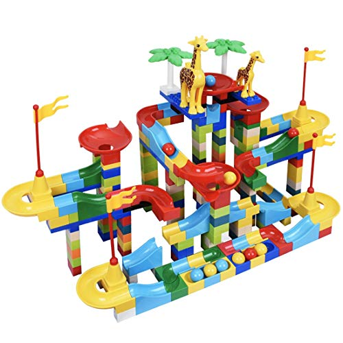 Bheddi Marble Run 265PCS, Marble Runs Toy for 3 4 5 6 7 8 9 10 Years Old Kids Boys Girls Gift
