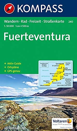 Kompass Karten, Fuerteventura: Wandern, Rad, Freizeit, Strassenkarte (KOMPASS-Wanderkarten, Band 240)