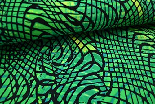 Stoffe Schulz | Badeanzugstoff. grün | Meterware ab 0,5m
