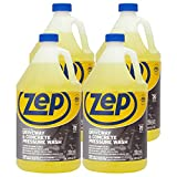 Product Image of the Zep Driveway and Concrete Pressure Wash Cleaner Concentrate 128 oz. (Case of 4) Pro Strength (ZUBMC128)