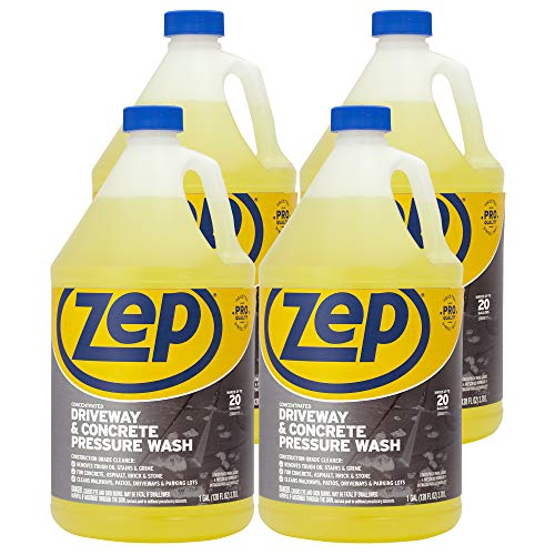 Zep Driveway and Concrete Pressure Wash Cleaner Concentrate 128 oz. (Case of 4) Pro Strength (ZUBMC128)
