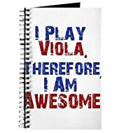 CafePress I Play Viola Spiral Bound Journal Notebook, Personal Diary, Lined