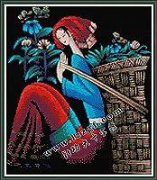 LovetheFamily 雲南重彩-花摘み娘 44×51cm DIY十字刺繍 手作り刺繍キット 正確な図柄印刷クロスステッチ 家庭刺繍装飾品 11CT 3ストランド(インチ当たり11個の小さな格子 3株ライン) 刺しゅうキット ホーム オフィス装飾 手芸 手工芸 キット 芸術 工芸 DIY 手作り 装飾品(フレームレス)