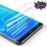 RIWNNI [3 Stück Schutzfolie für Samsung Galaxy S8 Plus, Ultra Dünn Weiche TPU Bildschirmschutzfolie (Nicht Panzerglas), HD Klar Bildschirmschutz Folie Full Screen für Samsung Galaxy S8 Plus - Transparent