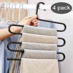 ✔Yours High Quality Hanger - Made of Stainless Steel which makes the pants hangers good quality with high hardness, durable and strong bearing force that can be used for a long time, the pants rack will never rust, worry free. ✔Unique Design - Non-sl...