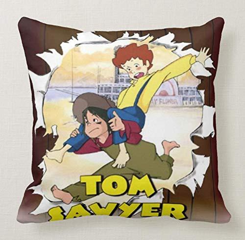 Pillow Cuscino Personalizzato 40X40 Meme Tributo Le Avventure di Tom Sawyer - Tom Story - 1 - Cartone Anni 80 Idea Regalo