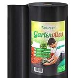 GardenGloss 25m² Telo Pacciamatura Contro Le Erbe Infestanti 150g/m² - Extra Resistente allo Strappo e Permeabile all'Acqua - Elevata Resistenza UV - Telo Nero per Orto - (25m x 1m, 1 Rotolo)